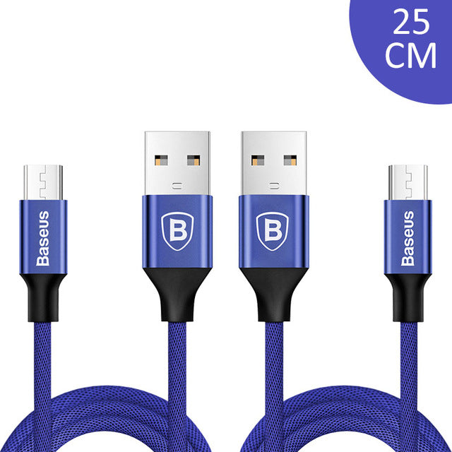 2pcs Micro USB Cable 2A Fast Data Sync Charging Microusb Charger For Samsung Xiaomi HTC Android Mobile Phone Cables - Flickdeal.co.nz
