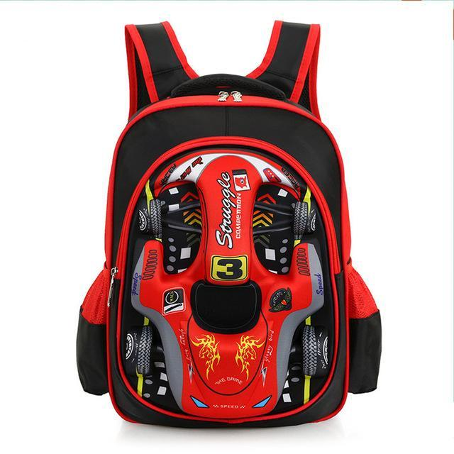 Car styling school bags Children's backpack for boys and girls