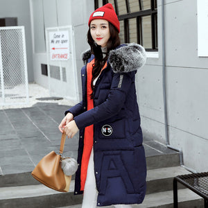 NEW FASHION autumn winter longer hooded women's cotton #808P