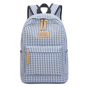 Plaid School Bags for Teenage Girls and Boys SB01
