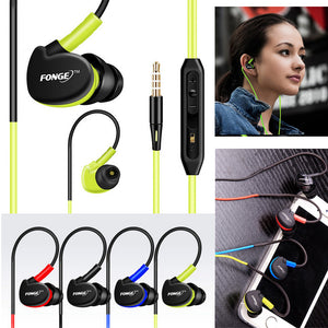 Waterproof Noise Cancellation Earphones with Mic