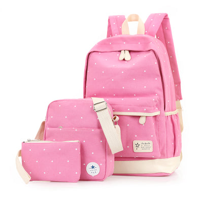 Backpacks For Teenage Girls Black, Pink, Green, Lavender, Red School Bags - Flickdeal.co.nz