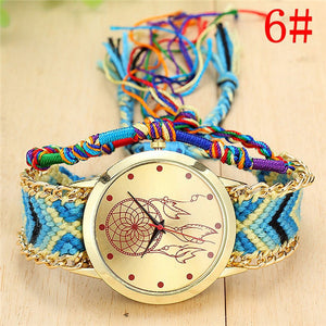 Handmade Braided Bracelet Watch for women
