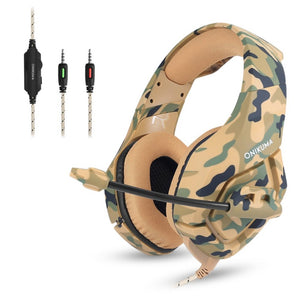 Camouflage Wired Game Headphone with noise Cancellation HP02 - Flickdeal.co.nz
