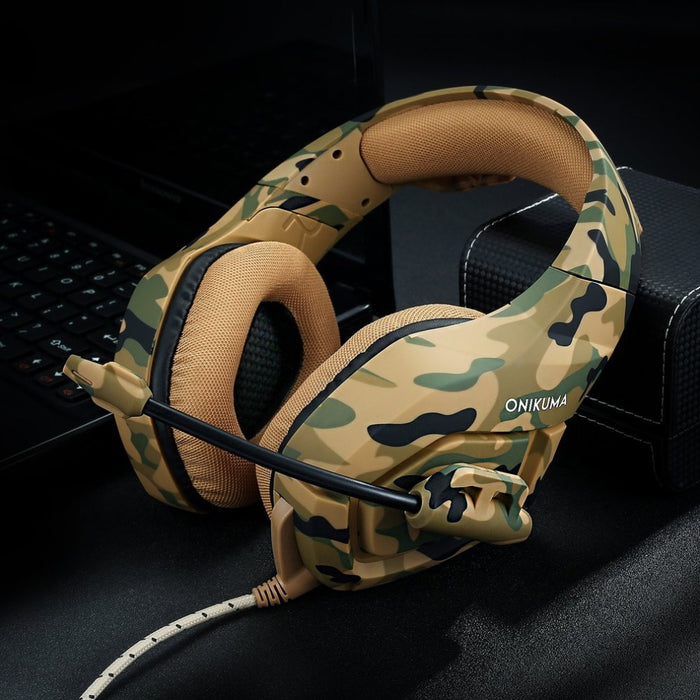 Camouflage Wired Game Headphone with noise Cancellation HP02