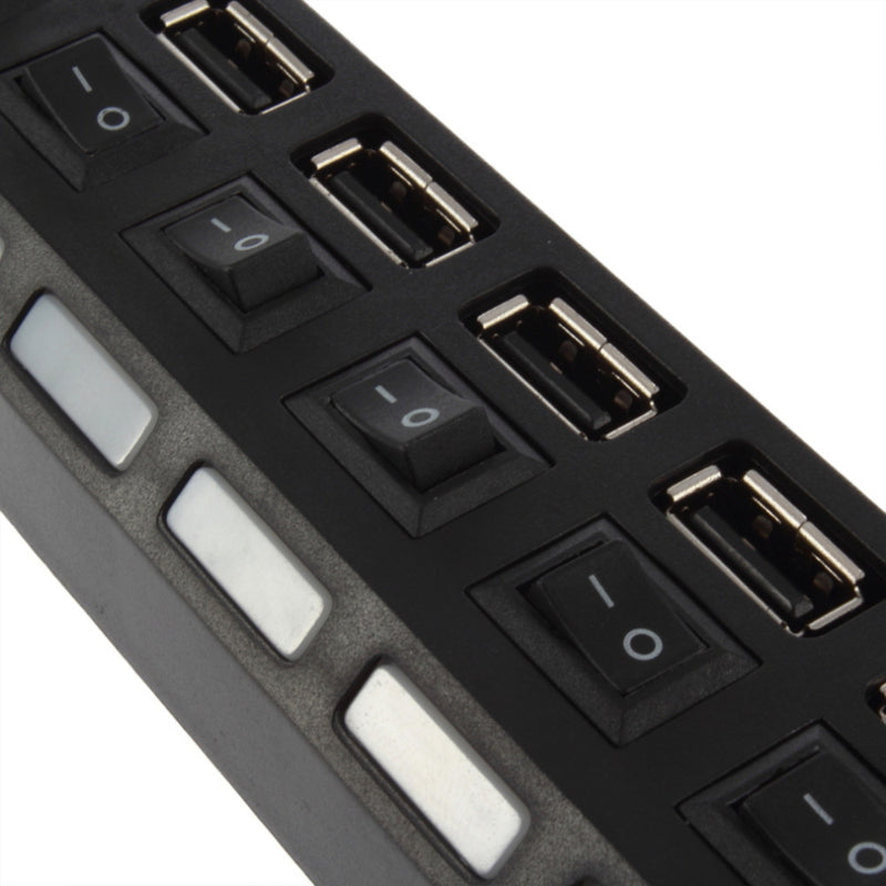 7 Port USB HUB 2.0 High Speed 480 Mbps with On/Off Switch - Flickdeal.co.nz