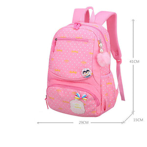 Lovely Dot Waterproof School Backpacks For Girls SB23