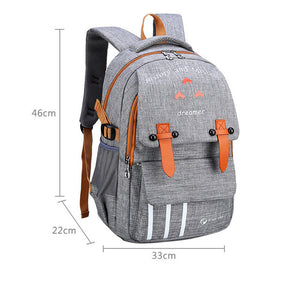 Casual light weight waterproof school backpack  SB12 - Flickdeal.co.nz