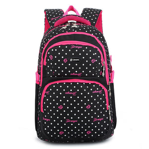 Schoolbag dots Print School Backpack For Teenage Girls and Boys SB11