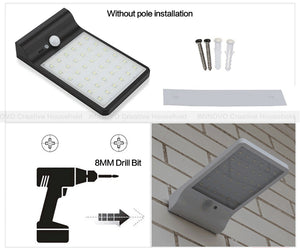 Outdoor Solar Security Lamp Motion Sensor Waterproof Lamp
