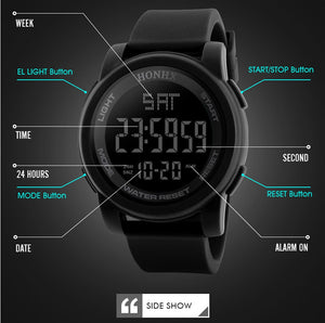 Men's LED Waterproof Digital Quartz  Watches MW89