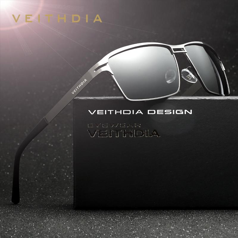 VEITHDIA Stainless Steel Men's Sun Glasses Polarized Driving Oculos masculino Male Eyewear Accessories Sunglasses For Men 2711 - Flickdeal.co.nz