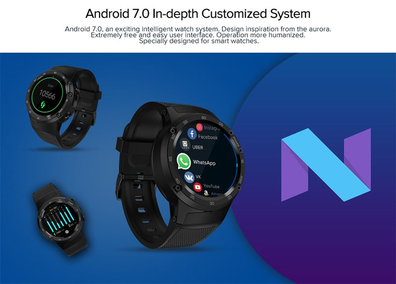 4G LTE GPS WiFi Smart Watch Phone 1 GB + 16 GB 5MP Camera with Fitness Tracker - Flickdeal.co.nz