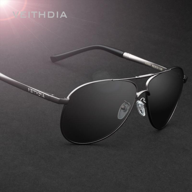 VEITHDIA Men's Sunglasses Polarized Lens Mirror Sun Glasses Male Eyewears Accessories For Men 3320 - Flickdeal.co.nz