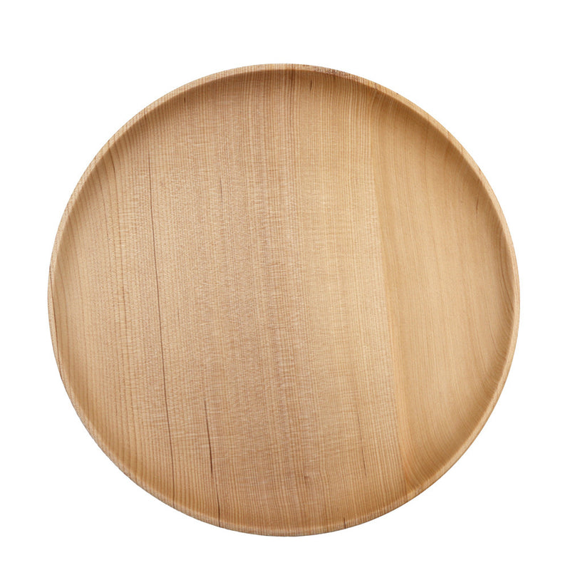 Round Wooden Dinner Plates Ecofriendly Delicate Dinnerware