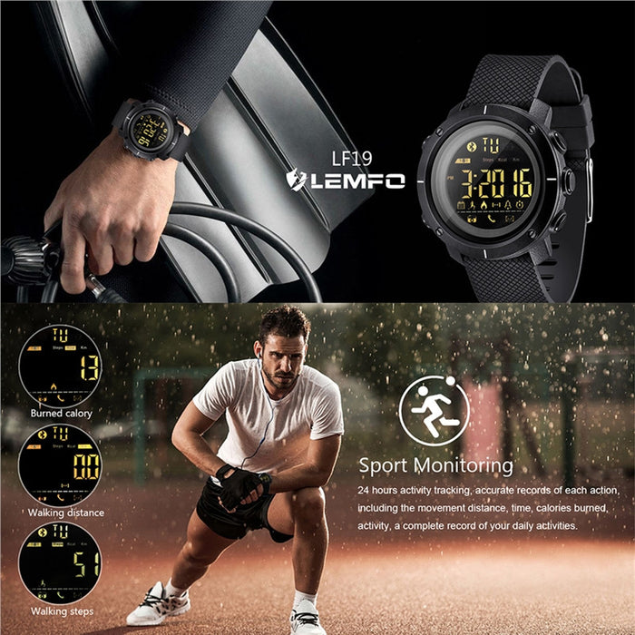 Smart Watch Waterproof Men Women Sports Pedometer Alarm Reminder SMS Notification