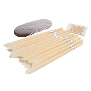10Pcs Ear Wax Candle Ear Wax Remover 5pcs Trays and 10pcs Swab - Flickdeal.co.nz