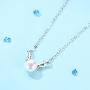 Pearl Necklace Electroplating Pendant Party Jewelry