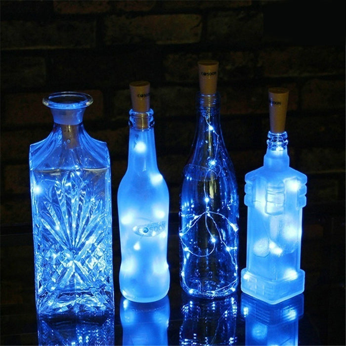 10 LED Solar Powered Wine Bottle Cork Shaped LED Light  Christmas Decoration Light