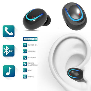 Bluetooth Earphones In-ear Stereo Earbuds Headphones Hands Free Sports Workout - Flickdeal.co.nz