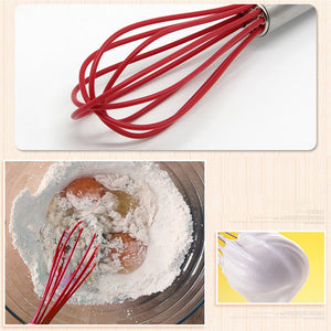 3Pcs Hand Egg Mixer Silicone Balloon Whisk Milk Cream Frother Kitchen Utensils - Flickdeal.co.nz