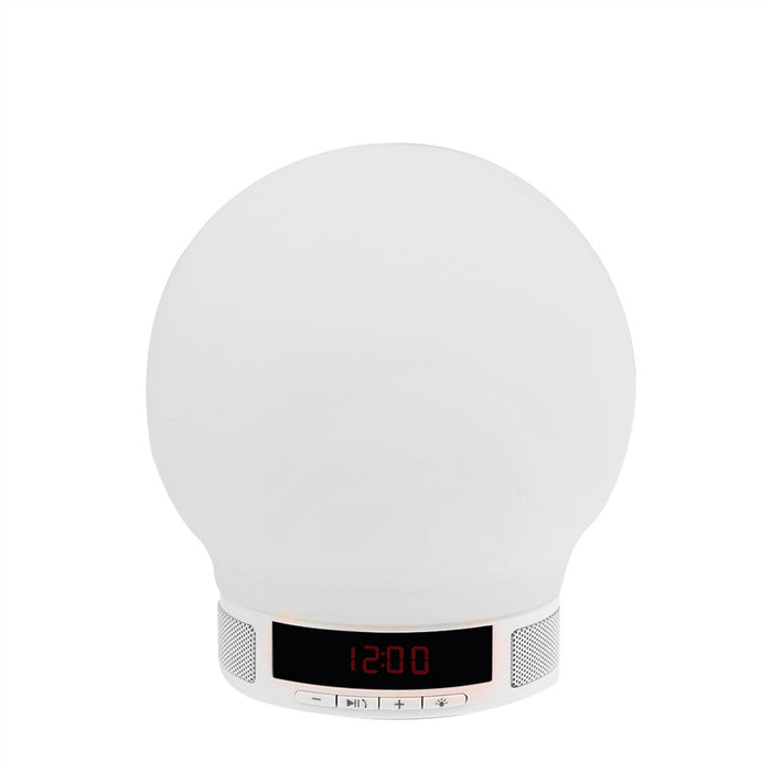 Soft Ball Shaped 4-Mode LED Night Light Wireless Bluetooth Speaker Audio Player with Time