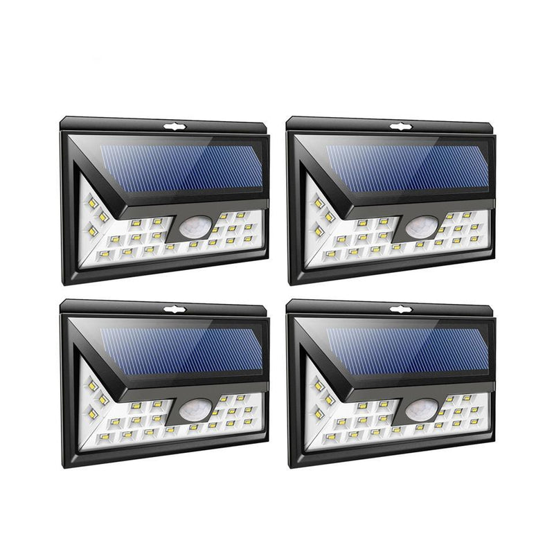 4pcs 24 LED Solar Lights for Garden Outdoor Motion Sensor Wall Waterproof Light - Flickdeal.co.nz