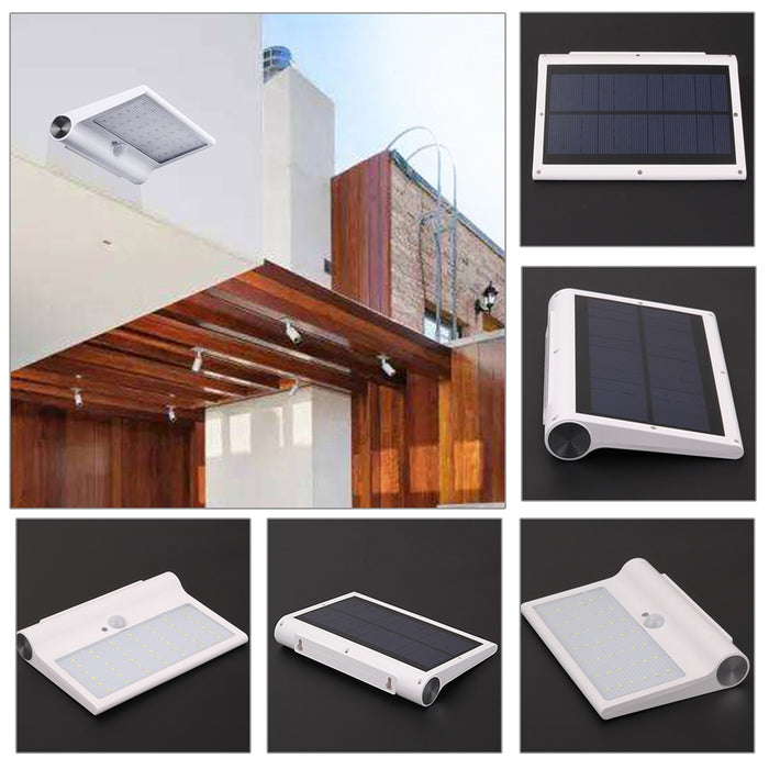 42 LED Waterproof PIR Motion Sensor Solar Power Wall Light