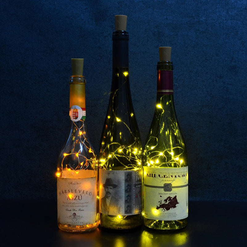 10 LED Solar Powered Wine Bottle Cork Shape Lamps - Flickdeal.co.nz