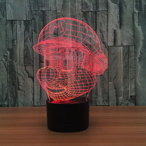 7 Color change 3D LED Lave Lamp Mario Night Desk Table Light - Flickdeal.co.nz