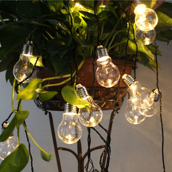 4M/6M Solar Led String Lights Globe Bulbs For Outdoor Lighting