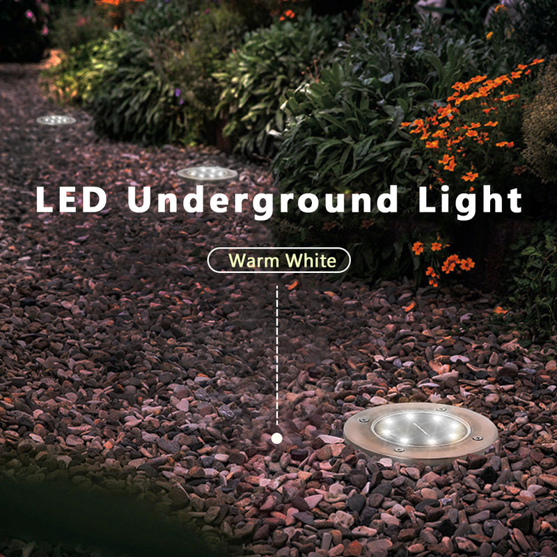 8 LED Solar Power Decking Light  Outdoor Path Way Lamp - Flickdeal.co.nz