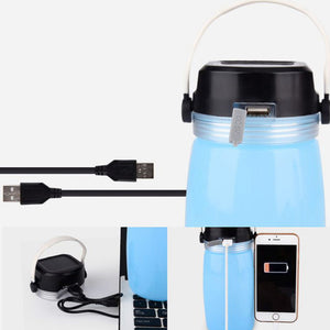 Solar Silicone Water Bottle Camping Flashlight Outdoor Portable Lantern