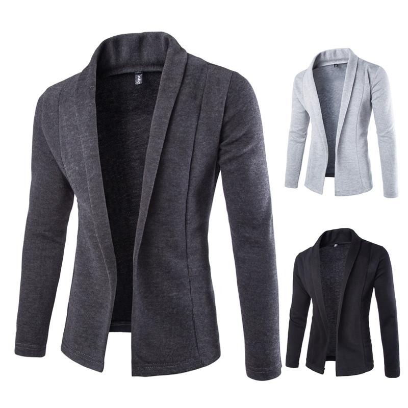 Casual Business Men's Cardigan - Flickdeal.co.nz