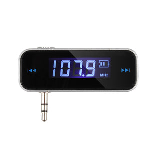 Wireless 3.5mm Car Music Audio FM Transmitter For iPod Mobile iPhone