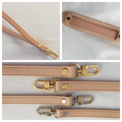 Vachetta Natural Leather Cross Body Straps & Handles for Purses and Bags