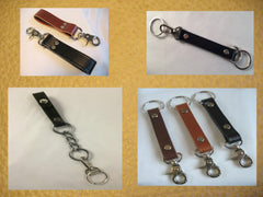 Leather Key Chains, Fobs & Bag Lanyards