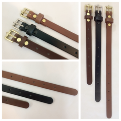 Adjustable Leather Strap Extenders Extensions for Bag Straps - 3 lengths - 4 widths