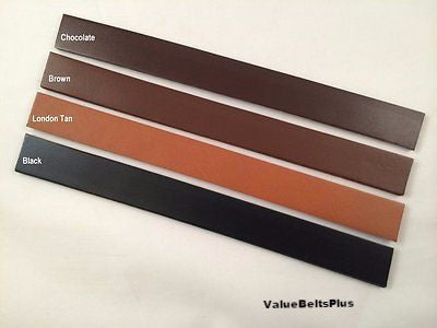 2 in. width Cowhide leather strip blank belt strap crafts black brown dark tan
