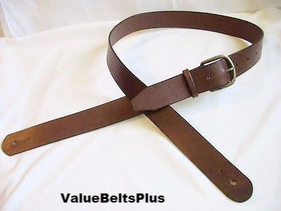 "1.5"" Wide Vintage Styled Handcrafted Leather Adjustable Guitar Strap - Choice of 4 colors"