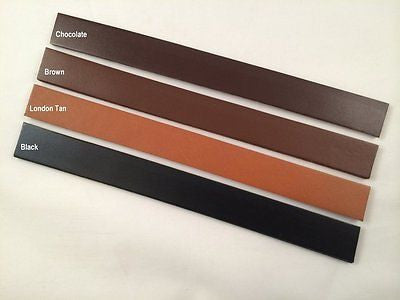 3 in. width Cowhide leather strip blank belt strap crafts black brown dark tan