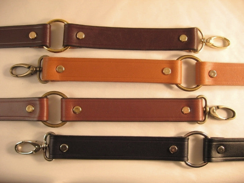 1 in. Leather Cross Body Bag Replacement Strap w/Rings - Choice of 4 Colors