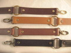 Leather replacement strap for bags purse round gate rings