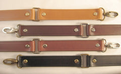 1 in. Leather Shoulder Purse Handbag Replacement Strap w/Loops 4 colors