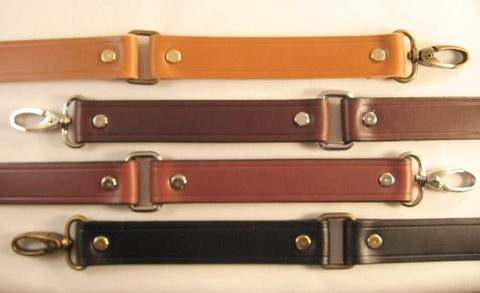 1 in. Leather Cross Body Bag Replacement Strap w/Loops - Choice of 4 Colors