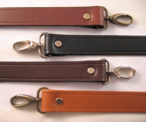 1 in. wide Leather shoulder handbag  purse replacement strap in 4 colors