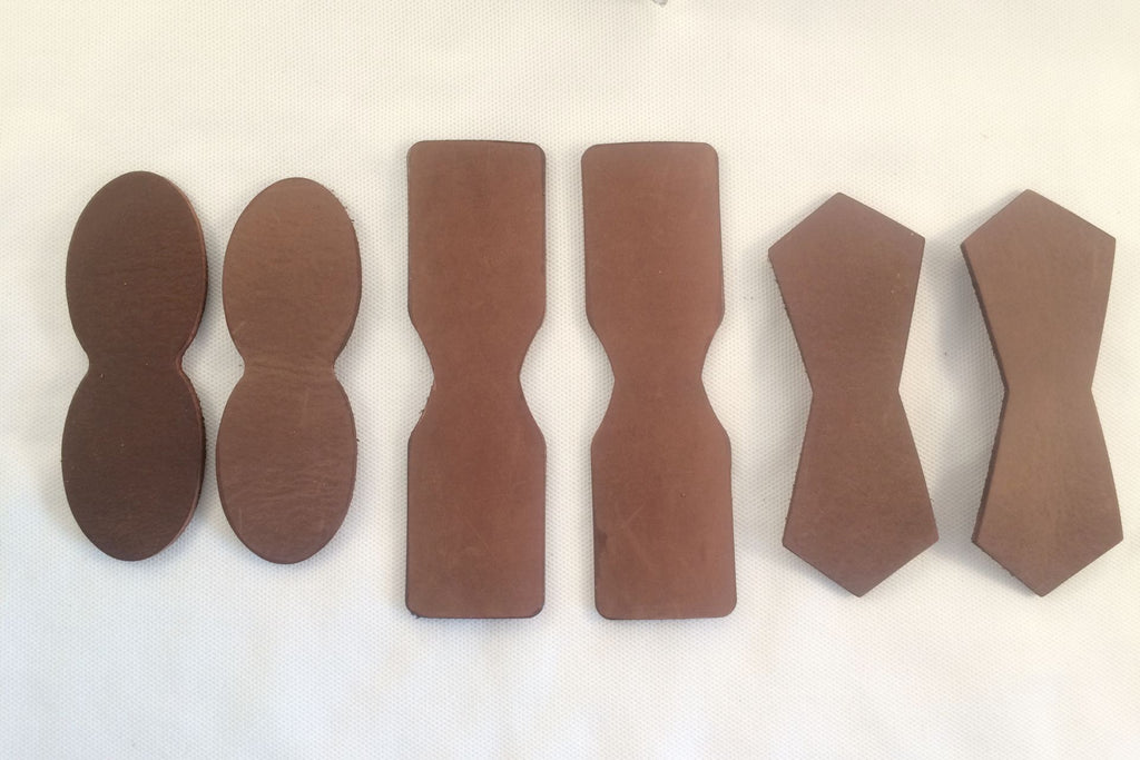Brown Leather Attachment Tabs for Bags Purses Handles or Straps