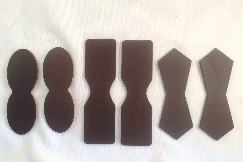 Dark Brown Chocolate Leather Attachment Tabs for Bags Purses Handles or Straps