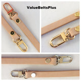 "3/8"" skinny vachetta leather cross body leather strap"