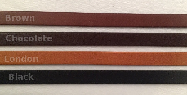 3/8 in. wide leather strips sample colors